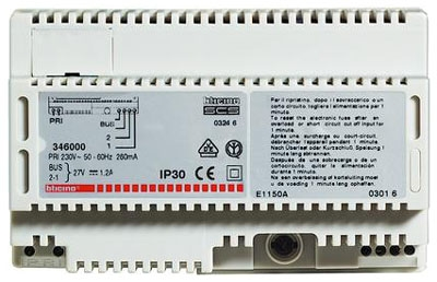BTicino 346000 8 DIN Modules PSU