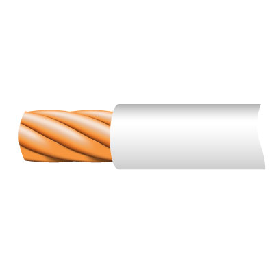 Cable TRI-RATED Pnl Wire 0.5mm Whi 100m