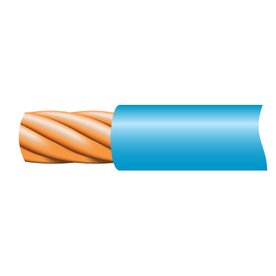 Cable TRI-RATED Pnl Wire 0.5mm Blu 100m