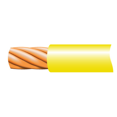 Cable TRI-RATED Pnl Wire 0.5mm Yel 100m