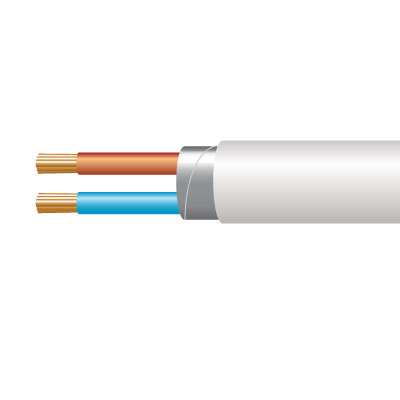 Cable 3182Y 2C Flex PVC 0.75mm Whi (100m) (1000mtrBulkBuy)