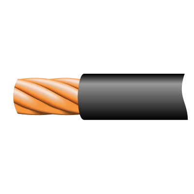 Cable TRI-RATED Pnl Wire 0.5mm Blk 100m
