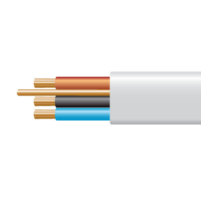 Cable 6243BH 1.0mmx100m Pack White