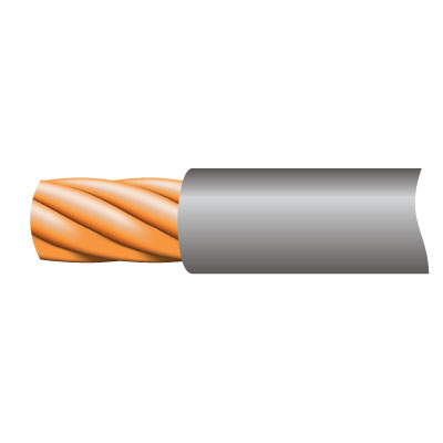 Cable TRI-RATED Pnl Wire 0.5mm Gry 100m