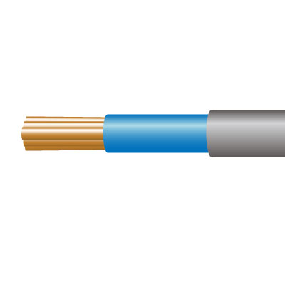 Cable 6181YH 1C PVC 1mm Gry/Blu (100m)