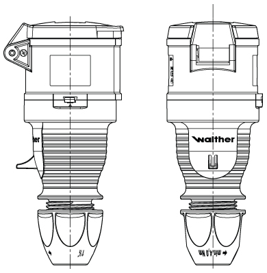 Walther 330306 Coupler 32A 220/250V