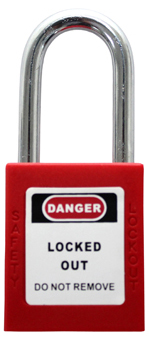 IDEAL K-8334-D Safety Padlock Red