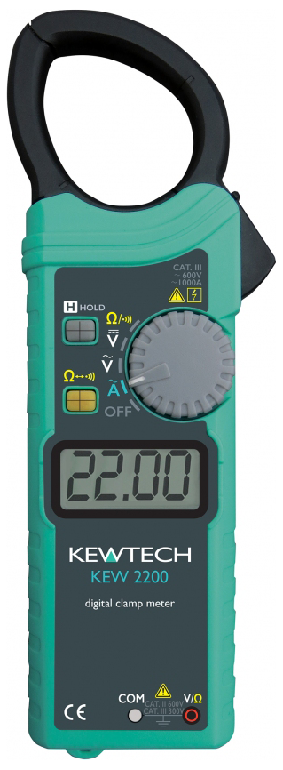 KEWTECH KEW2200 Digital AC Clamp Meter