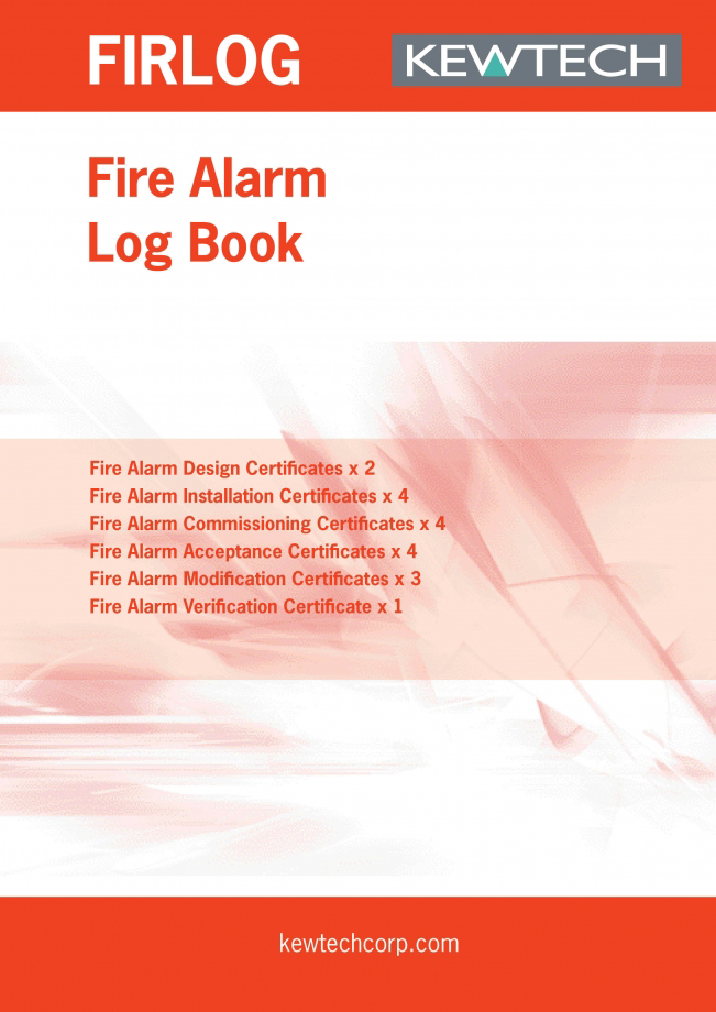 KEWTECH FIR1LOG Fire Alarm Log Book A4