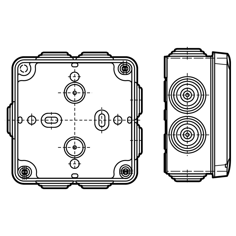 legd 092138 industrial box 105x105x55mm