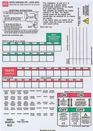 Mk K5599s Consumer Unit Labels Sheet