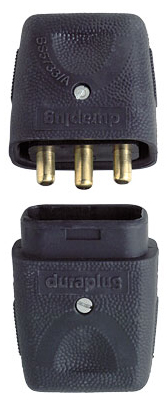 MK LCP103BLK Connector Inline 3 Pin 10A