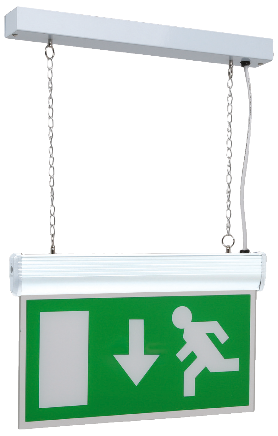 NVC NIT/LED/WH/M3 LED Exit Sign 3hrM Whi