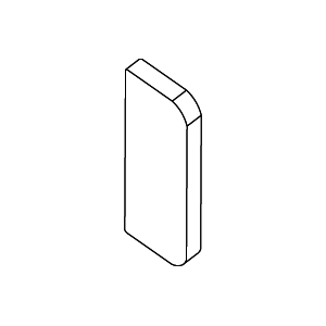 Rehau 733379 End Cap 180x65mm