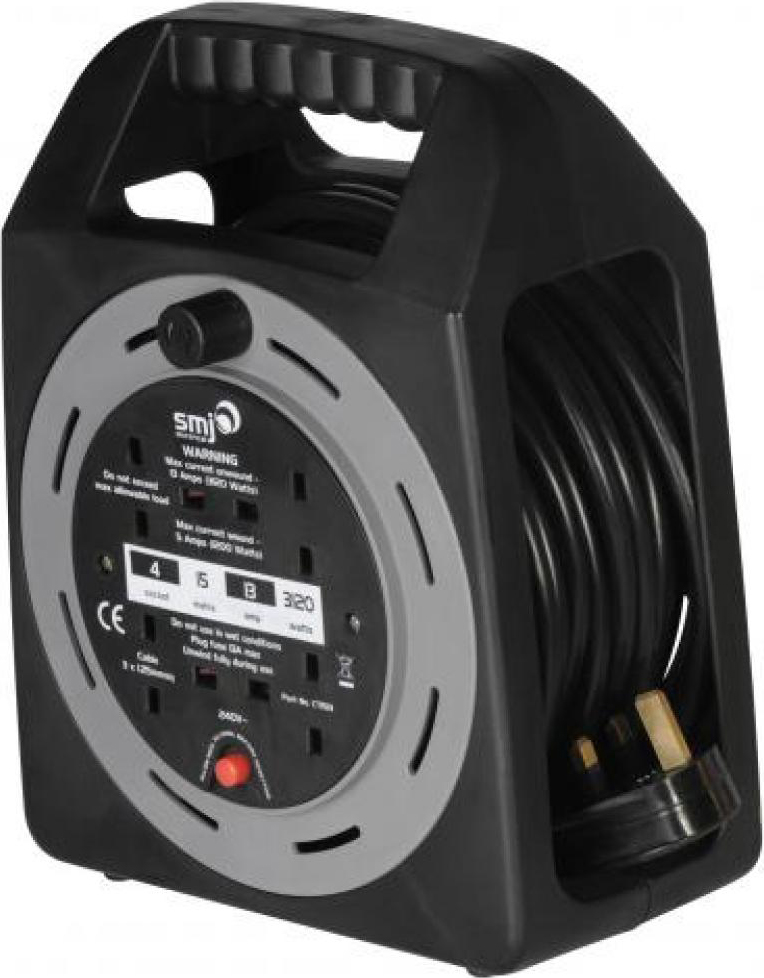 SMJ CT2513 Cable Reel 4 Socket 13A 25m