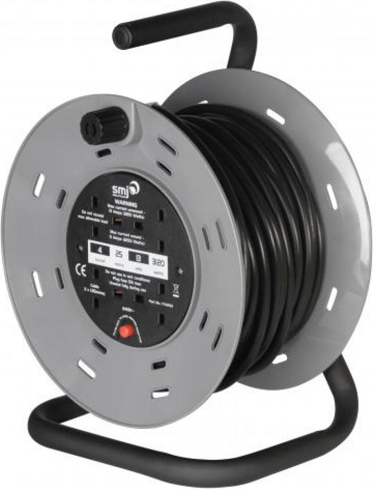 SMJ CTH2513 Cable Reel 4 Socket 13A 25m