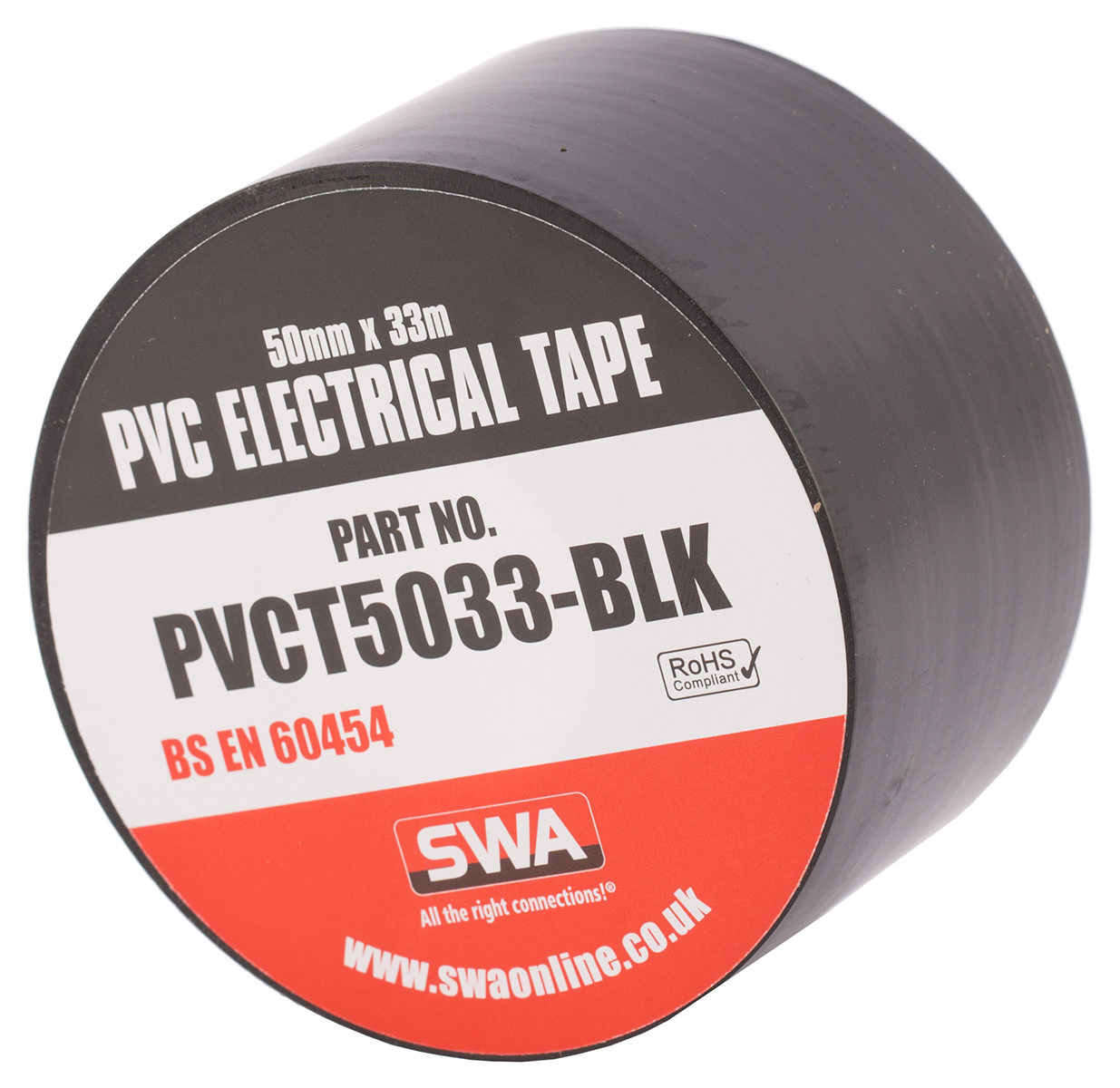 SWA PVCT5033-BLK Electrical Tape Blk