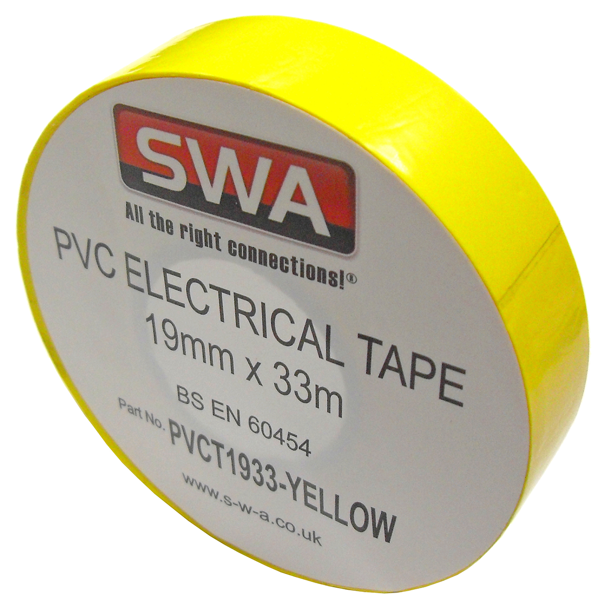 SWA PVCT1933-Y Electrical Tape Yel