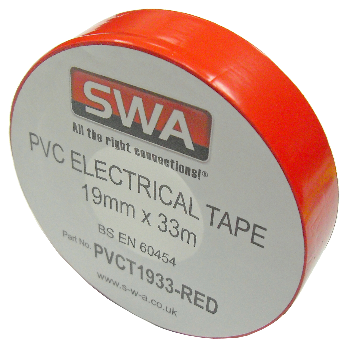 SWA PVCT1933-R Electrical Tape Red PVC