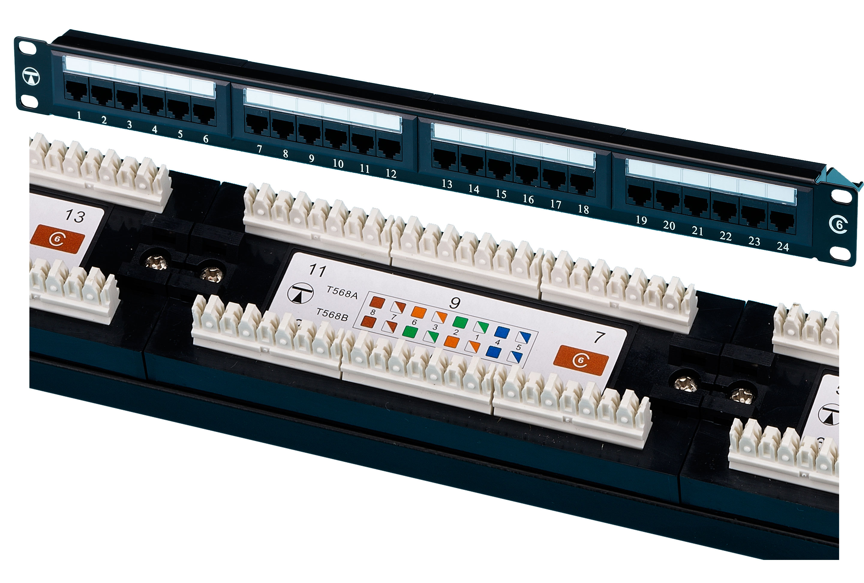 TUK SF24C Cat6 24 Port Vert Patch Panel